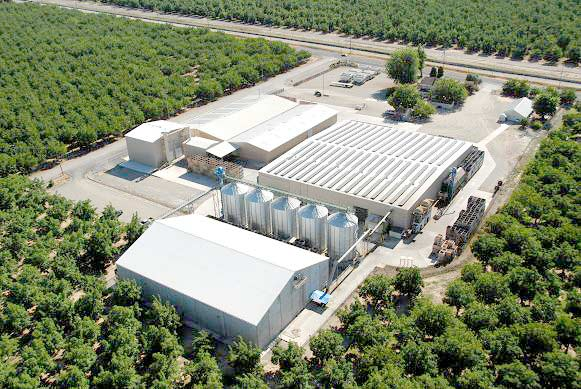 Aerial view of Carriere Family Farms processing facility in Glenn County, CA